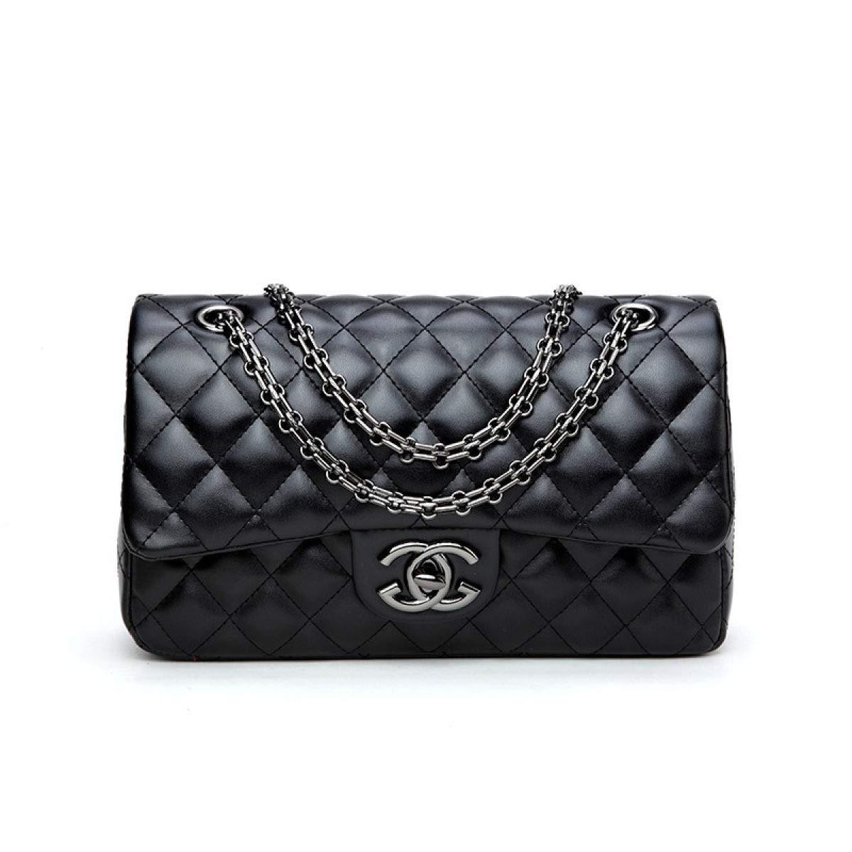 2018 Baby Frauen Handtaschen Umhängetasche Kette Schultertaschen Mode Mini Taschen Lingge Handtaschen28x16x8cm Black1-OneSize WJNKK