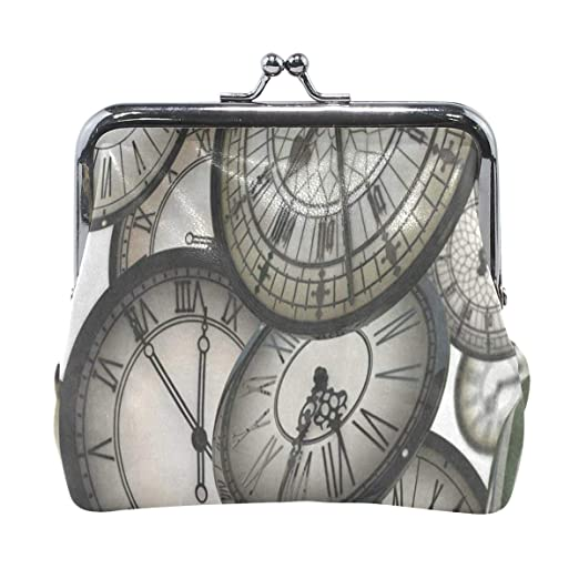 21a6f0a9780e Coin Purse 3D Clock Floating Space Moving Womens Wallet Clutch Bag ...