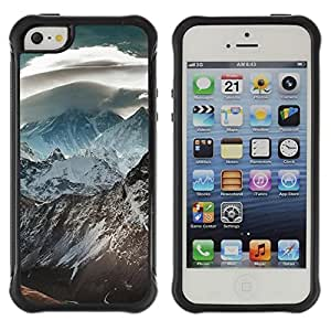 """Hypernova Defender Series TPU protection Cas Case Coque pour Apple iPhone SE / iPhone 5 / iPhone 5S [Naturaleza Hermosa Forrest Verde 120""""]"""