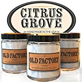 Scented Candles - Citrus Grove - Set of 3: Key Lime, Lemongrass, and Orange Zest - 3 x 4-Ounce Soy Candles
