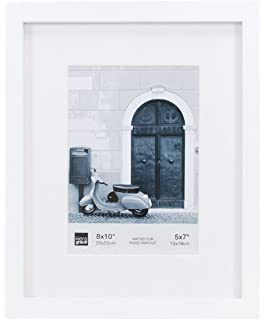 kiera grace contempo picture frame matted for 5 by 7 inch photo 8 by 10