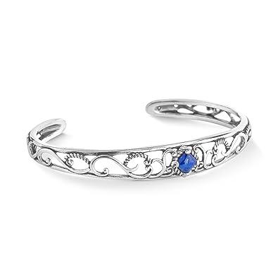 09b7bf7ff22 Carolyn Pollack Sterling Silver Blue Lapis Gemstone Cuff Bracelet Size Small