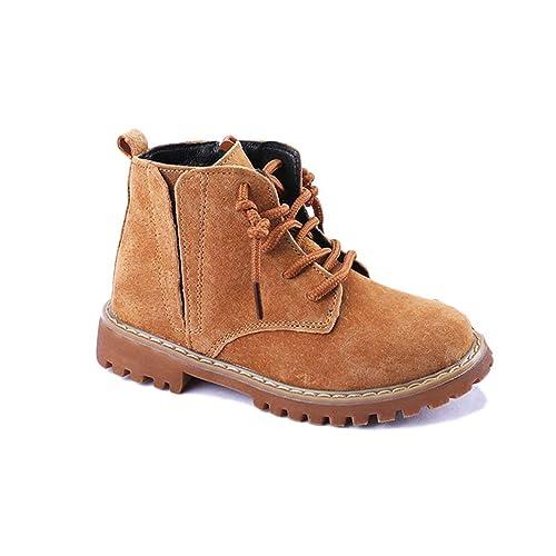 Botines De Invierno para NiñOs Zapatos Sin Cordones De Invierno para NiñOs Zapatos Oxford para NiñOs Botas para La Nieve Zapatos para NiñOs PequeñOs ...
