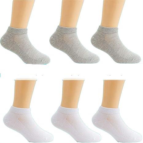 zhaoaiqin 6 pares, calcetines para niños, calcetines finos de ...