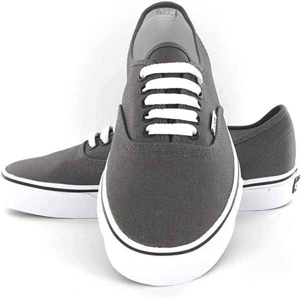 0a43e60fcbd247 ... Vans Authentic Grey Canvas Mens Trainers Size 10 US ...