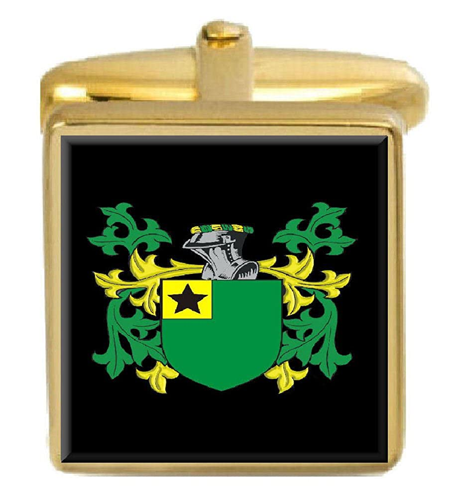 Select Gifts Sim Scotland Family Crest Surname Coat Of Arms Gold Cufflinks Engraved Box