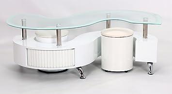 445291299f5cf Heartlands Furniture Krista White High Gloss White Border Coffee Table