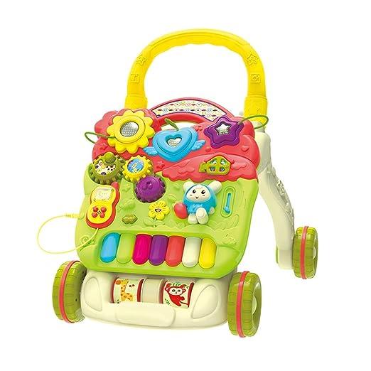 Axdwfd Andador Cochecito de bebé, educación temprana Puzzle Walker ...