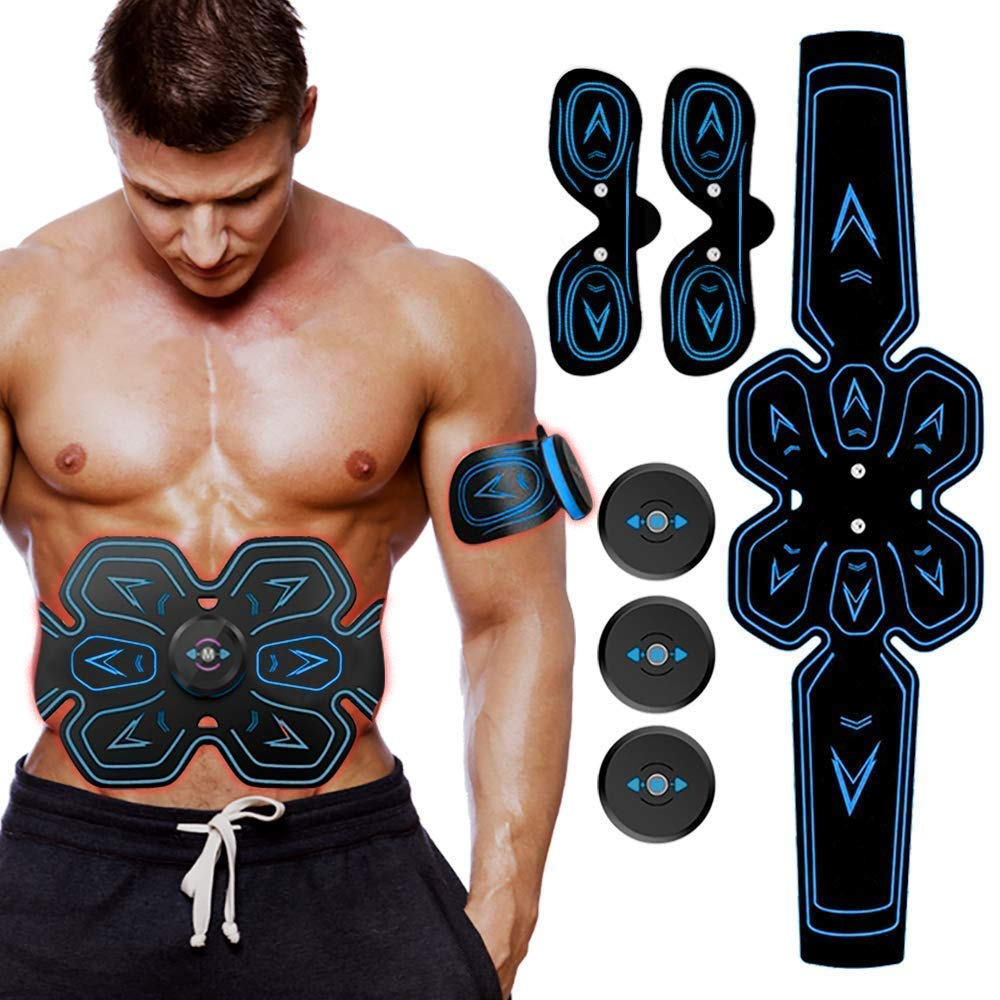YUCEN ABS Stimulator Muscle Toner, Abdominal Toning Belt Abs Trainer Body Fitness Belt Ab Workout Machine for Men & Women Arm & Leg Trainer