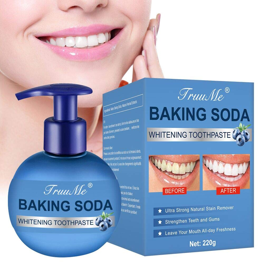 Amazon.com : Teeth Whitening Toothpaste, Baking Soda Toothpaste, Stain  Removal Toothpaste, With Strong Cleaning Power, Anti Bleeding Gum, Prevent  Tooth Decay, Natural Stain Removal Repairing Refreshing : Beauty