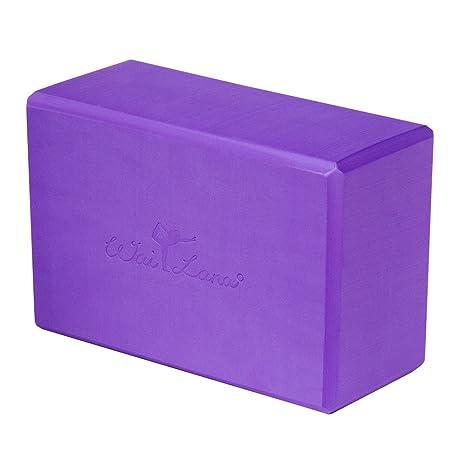 Amazon.com : Wai Lana Foam Yoga Block (Purple, 4-inch ...