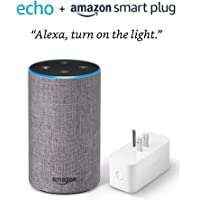 $54 Get Echo (2nd Generation) with Amazon Smart Plug- Heather Gray Fabric