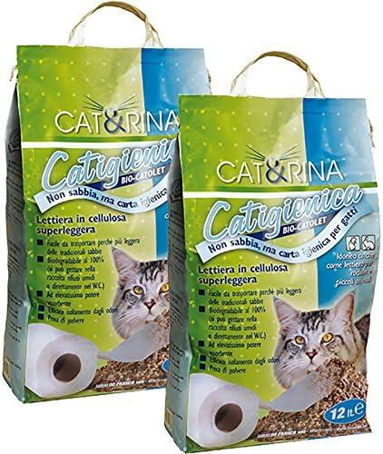 Cat & Rina - (2 paquetes de 12 litros) Ropa de cama para gatos en ...