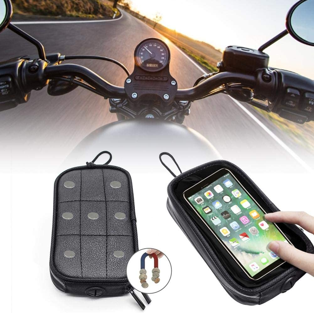 with Touch Screen Sun Visor and Waterproof Universal Motorcycle Fuel Tank Bag,Magnetic Motorcycle Tank Transparent Bag Phone Holder Pouch