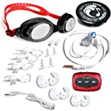 Swimbuds SPORT Headphones and 8 GB SYRYN waterproof MP3 player with shuffle feature