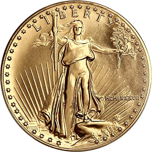 1987 $50 Gold Eagles Gold Eagle Fifty Dollar MS70 PCGS