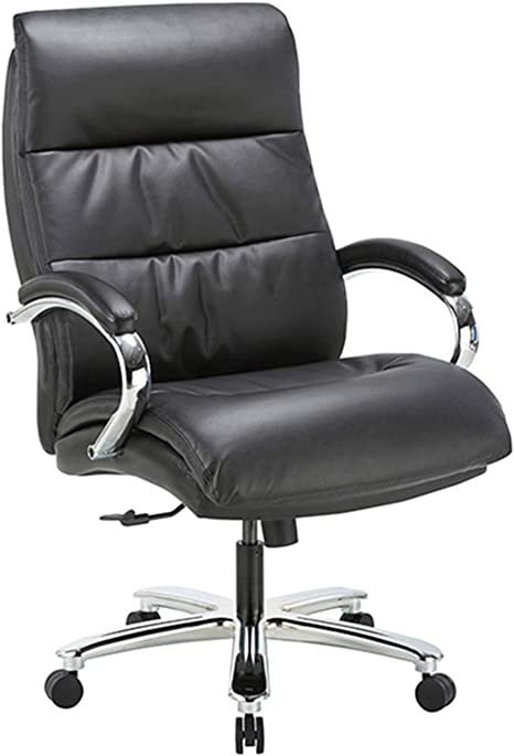 CLATINA Ergonomic Big And Tall Executive Office Chair With Bonded Leather - One Of The Best Office Chairs Under $400 From The Leather Category