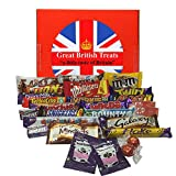 British Foods Worldwide Best of British Chocolate Gift Box 25 Bars 980g (2.16lbs) | Cadbury, Nestlé, Mars