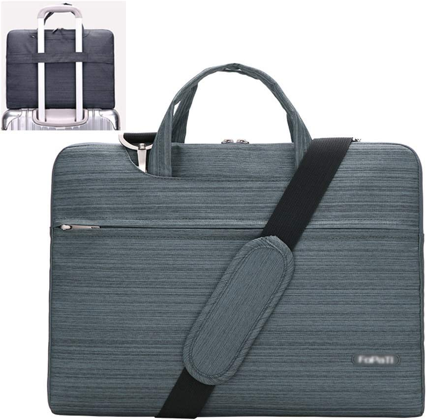Men and Women Large-Capacity Waterproof Can Be Placed Trolley Case Shockproof Business Travel Notebook Bag Color : B, Size : 13.3 inches Notebook Shoulder Bag ZWJJQBJBB Laptop Bag