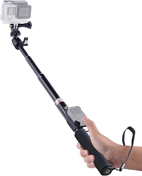 Monopod with Tripod Mount Smatree SmaPole Go Pro Q1 Extendable Selfie Stick