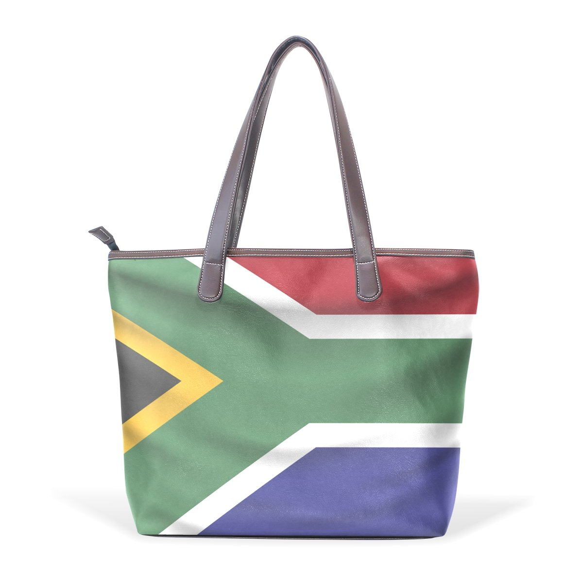 South Africa Flag Womens Fashion Large Shoulder Bag Handbag Tote Purse for Lady