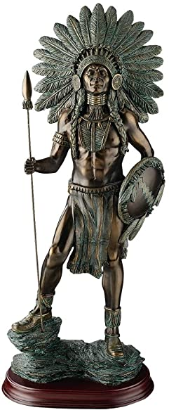 Artistic Solutions 18 Large Classic American Indian Chief Sculpture Statue Figurine