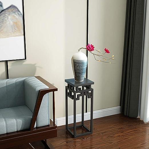 Puesto de plantas Soporte de flores de interior de madera de acero ...
