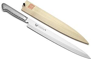 Yoshihiro Hayate Inox Aus-8 Yanagi Sushi Sashimi Japanese Chef Knife Integrated Stainless Handle ((11.8'' (300mm)))