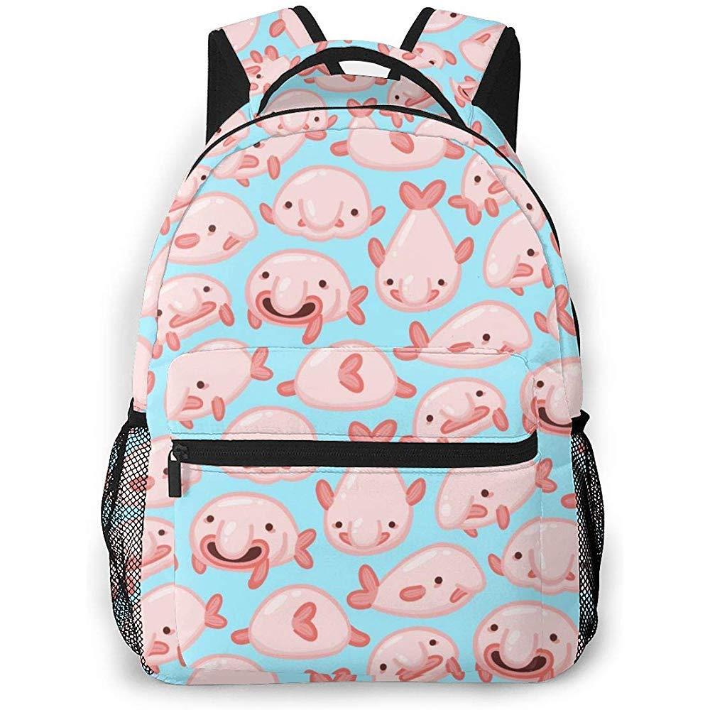 ABRAN Backpack Sac /à dos unisexe Blob Fish Blobfish Bookbag Sac dordinateur portable l/éger pour le camping scolaire en plein air