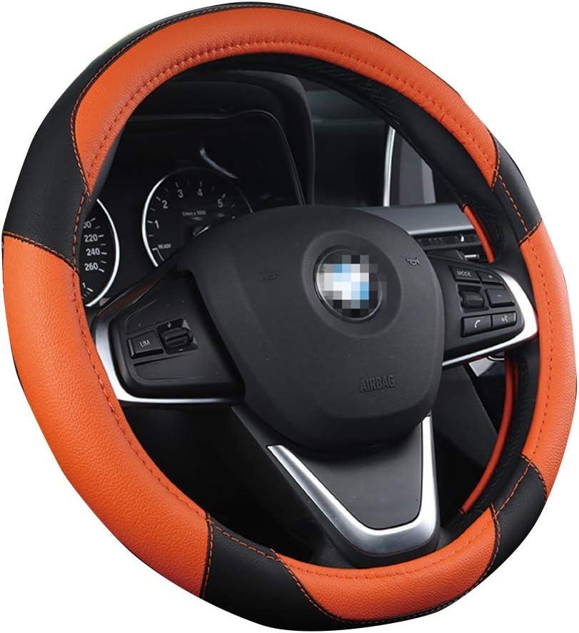 15 Zoll Mikrofaser Leder Auto Auto Lenkradbezug Nice Design Printed Blumen f/ür Frauen M/ädchen Orange