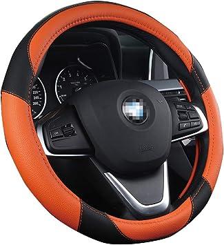 15 Zoll Mikrofaser Leder Auto Auto Lenkradbezug Nice Design Printed Blumen Für Frauen Mädchen Orange Auto