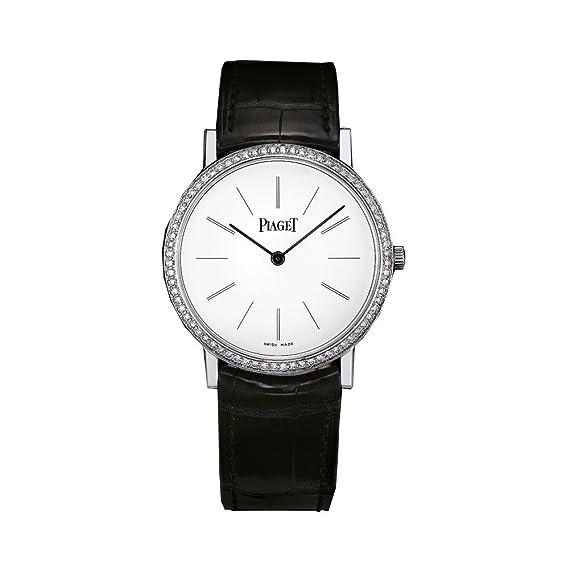 Piaget Altiplano Blanco Dial 18 K Blanco Oro Diamante Damas Reloj goa29165: Amazon.es: Relojes