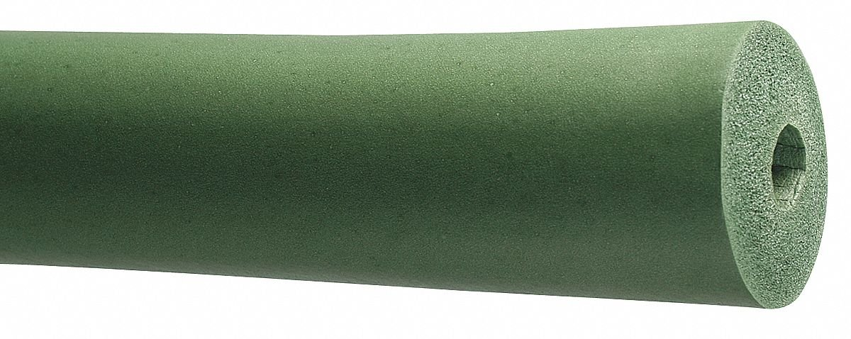 3/4'' Thick, Unslit Halogen-Free NBR/PVC Pipe Insulation, 6 ft. Insulation Length