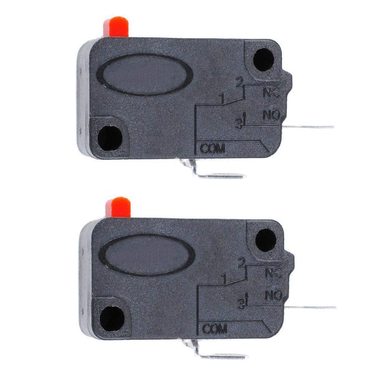 GIlH 2Pcs Microwave Oven Door Micro Switch for LG GE Starion SZM-V16-FD-63 SZM-V16-FA-63