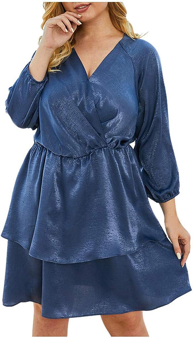 Glänzend Abendkleid Damen Große Größen Seidenkleid Elegant