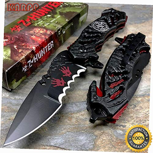 Hazard Apocalypse Survivor Fantasy Pocket Knife - Outdoor Camping perfect For Hunting EDC EMT ()