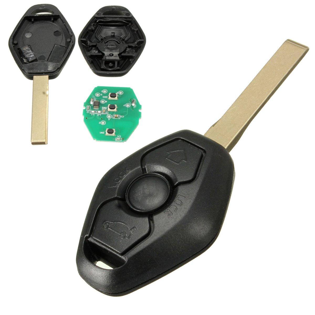 KATUR 3 Buttons Remote Key with Chip ID44 315MHz for BMW Z4 X3 X5 E46 Series 3 5 6 7 Z3 Keyless Entry Fob Case Car Alarm LYSB01JZNMZ00-ELECTRNCS