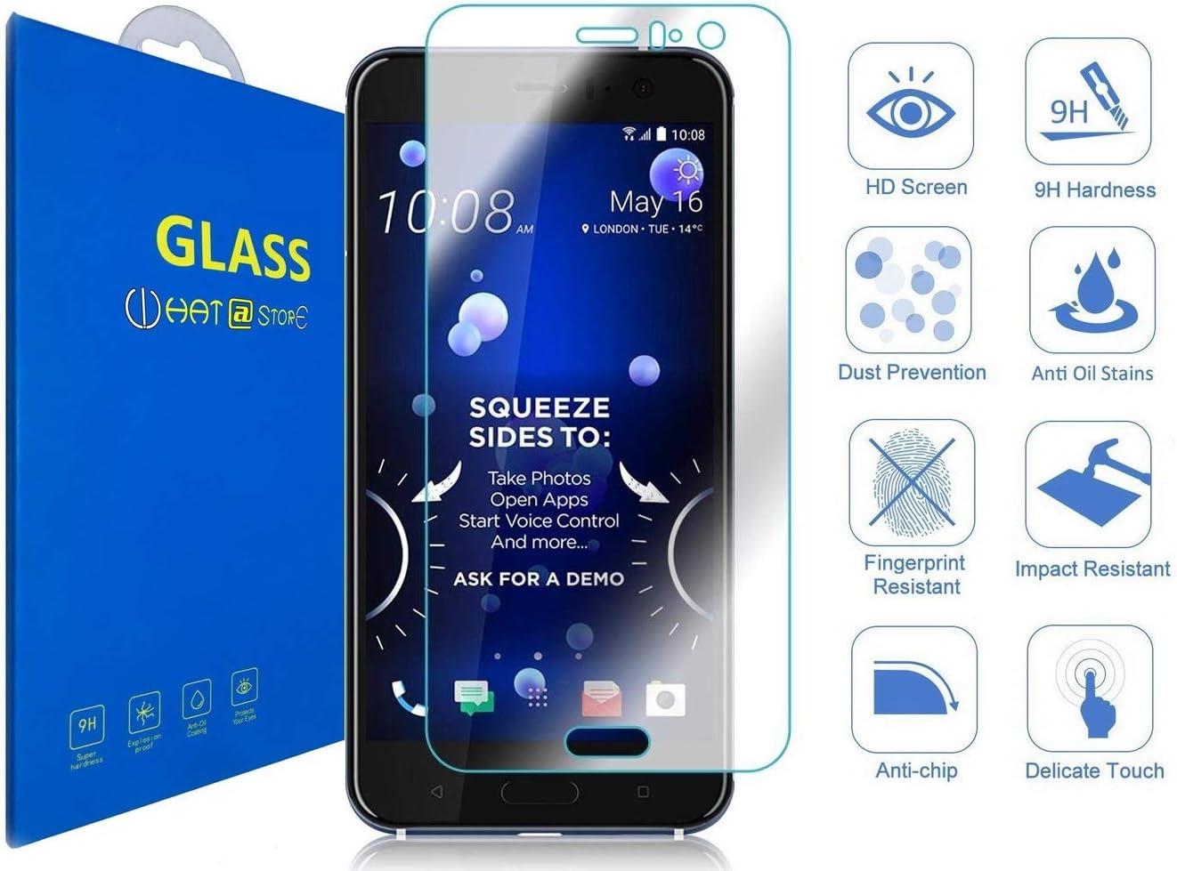 HTC U11 - Curvo 3D Cristal Templado Protector de Pantalla, 3D ...