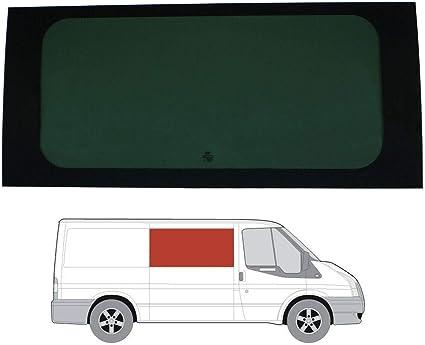 Mano derecha, tintado oscuro fijo ventana para Ford Transit (00 – 13) [MWB; LWB] Panel lateral contrario puerta corredera: Amazon.es: Coche y moto