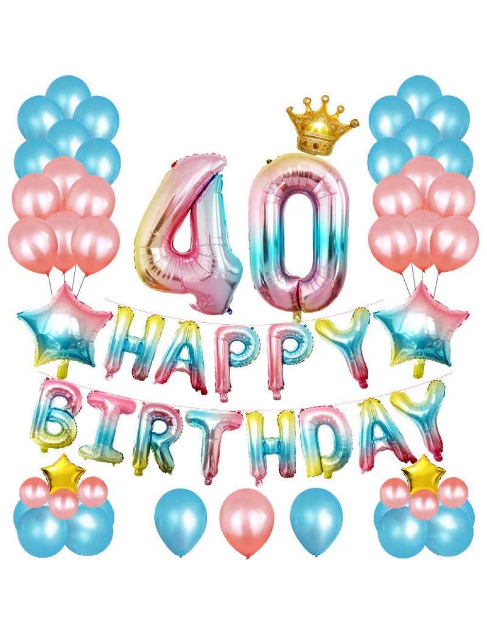 GYFC 18 20 30 40 50 Años Fiesta De Cumpleaños Globo ...