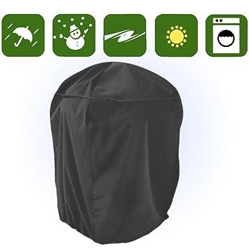 Impermeable Ronda 145 cm Funda para Barbacoa Cubierta Cubre Cubrir Tapa BBQ Protección SWQ1NB: Amazon.es: Jardín