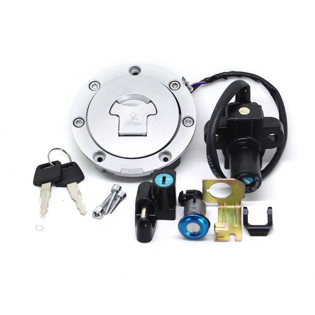 Alpha Rider Fuel Gas Cap Tank Cover + Ignition Swtich + Key For Hon da CB400 92 93 94 95 96 97 98 CB-1 VT250 MC20 Motofans