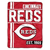The Northwest Company MLB Cincinnati Reds Micro Raschel Throw, One Size, Multicolor