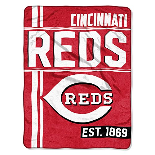 The Northwest Company MLB Cincinnati Reds Micro Raschel Throw, One Size, Multicolor