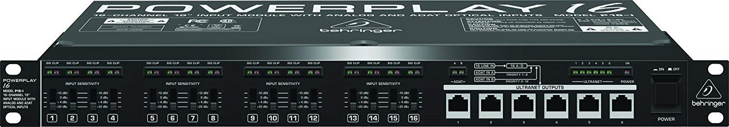 Behringer Powerplay P16-I 16-Channel 19'' Input Module with Microfiber and 1 Year Everything Music Extended Warranty by Behringer (Image #4)