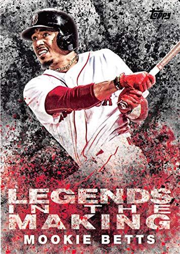 Baseball MLB 2018 Topps Legends in the Making Black #LTM-MB Mookie Betts Red Sox