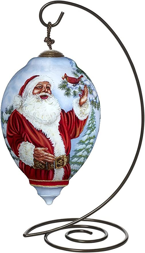 "Ne/'Qwa Art 7151130 Precious Moments Petite Princess-Shaped Glass Ornament Winter Angel/"" Artist Dona Gelsinger"