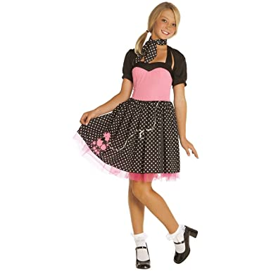 28acf29626945 Amazon.com: Sock Hop Cutie Teen/Junior Costume - Teen Medium/Large: Clothing