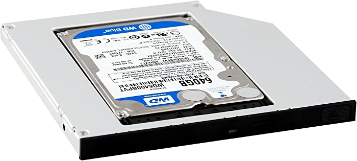 Protronix SATA Optical Bay 2nd Hard Drive Caddy, Universal for 9.5mm CD/DVD Drive Slot (for SSD and HDD)