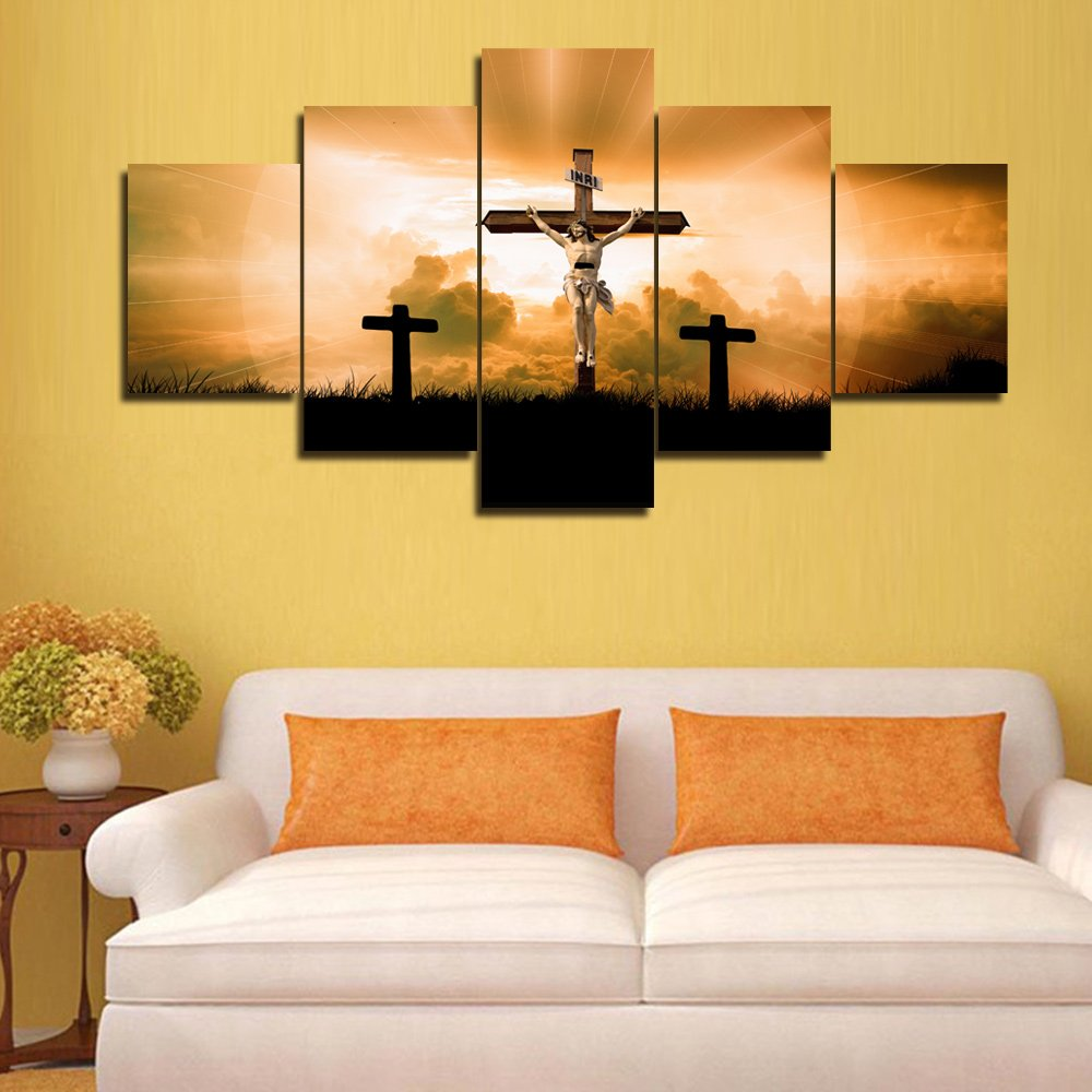 Amazon.com: Split Canvas Wall Art Decor Jesus Christ Dying on the ...